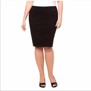 Torrid Black Stretch Pencil Skirt